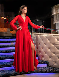 Evening dress 1017 red