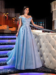 Evening dress 1039 light blue