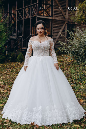 Wedding dress 64001 plus sizes 46-58