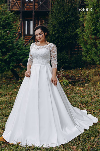 Wedding dress 64003 plus sizes 46-58