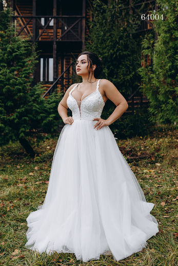 Wedding dress 64004 plus sizes 46-58