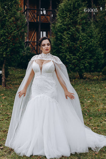 Wedding dress 64005 plus sizes 46-58