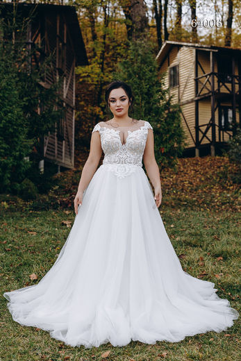 Wedding dress 64006 plus sizes 46-58