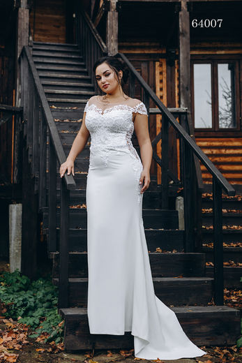 Wedding dress 64007 plus sizes 46-58