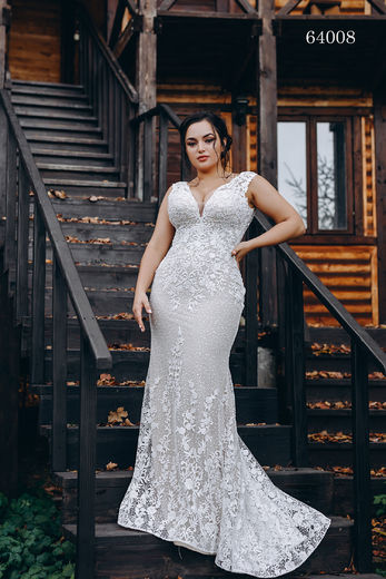Wedding dress 64008 plus sizes 46-58