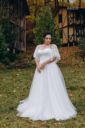 Wedding dress 64010 plus sizes 46-58