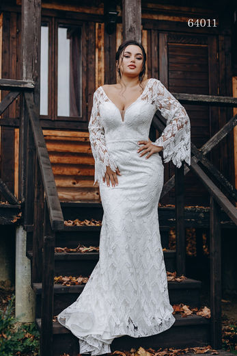 Wedding dress 64011 plus sizes 46-58