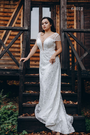 Wedding dress 64012 plus sizes 46-58