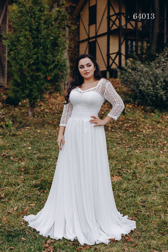 Wedding dress 64013 plus sizes 46-58