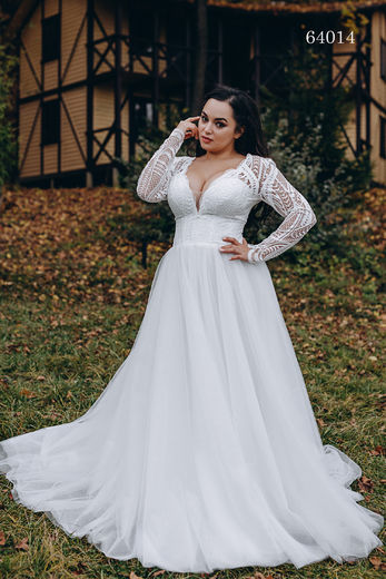 Wedding dress 64014 plus sizes 46-58