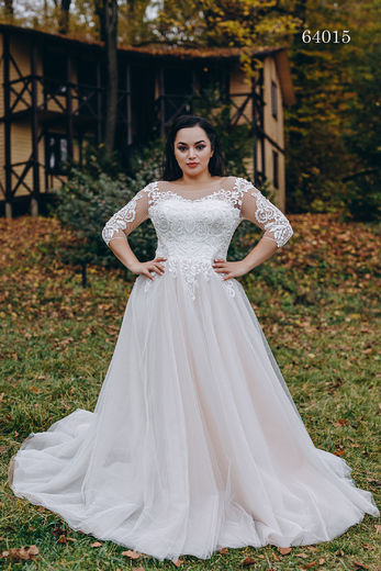 Wedding dress 64015 plus sizes 46-58
