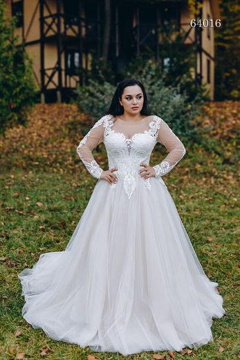 Wedding dress 64016 plus sizes 46-58