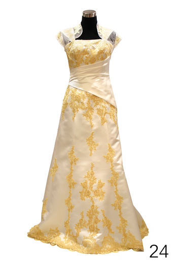Wedding dress H2420 ivory/gold
